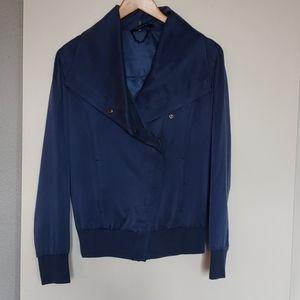 William Rast navy blue silk jacket